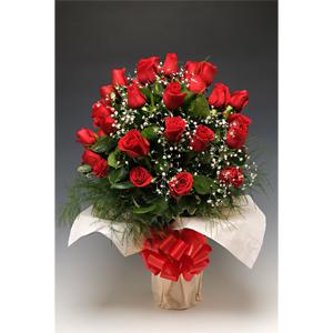 7140aab1327bf Foto de Florero 24 rosas importadas