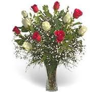Foto de Florero de 12 rosas importadas