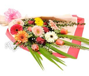Foto de Ramo de gerberas y rosas